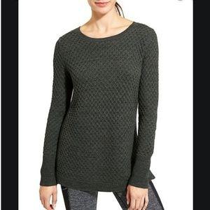 Athleta Honeycomb Thermal Knit Tunic Sweater